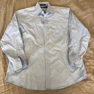 Men's light blue Kirkland's dress shirt